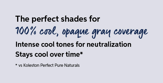 100% cool, opaque gray coverage
