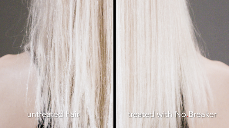 Untreated hair vs Treated with No Breaker
